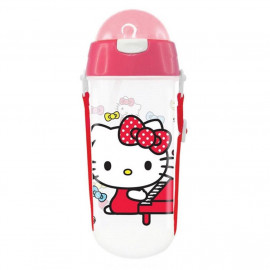image of Sanrio Hello Kitty 580ML BPA Free Polypropylene Water Bottle With Straw