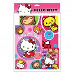 Sanrio Hello Kitty Activity & Colouring Book With Activity Pad, 12pcs Colour Pen
