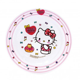 image of Sanrio Hello Kitty Melamine Deep Plate 8 Inches
