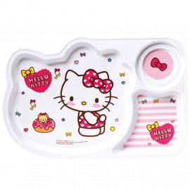 image of Sanrio Hello Kitty Melamine Section Tray 12 Inches