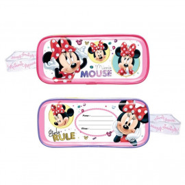 image of Disney Minnie 5pcs Transparent Square Pencil Bag Set - Pink Colour