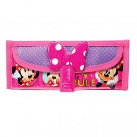 image of Disney Minnie Square Pencil Bag Minnie Ribbon with Pocket