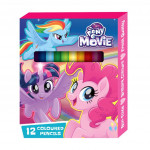 Little Pony 12pcs Short Colour Pencil - Pink Colour