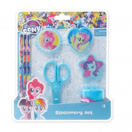 image of Little Pony 8pcs Stationery Set - Blue Colour
