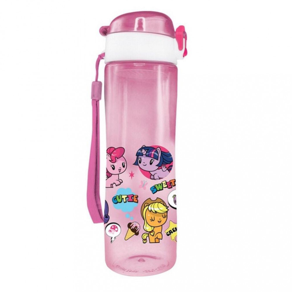 Little Pony Cutie Mark Crew 600ML BPA Free Tritan Bottle - Pink Colour