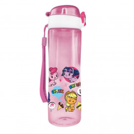 image of Little Pony Cutie Mark Crew 600ML BPA Free Tritan Bottle - Pink Colour