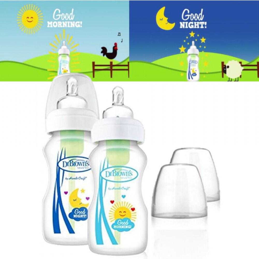 Dr Brown's Good Morning Good Night Bottle 270ml Bottles (twin pack)
