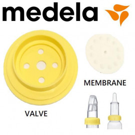 image of Medela valve and membrane for soft cup and special needs feeder