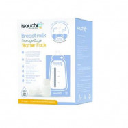 image of Isa Uchi Breastpump Storage Bags Starter Pack, 10 pcs + 2 Direct Pump Adaptor