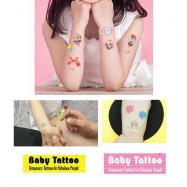 image of Kids Temporary Tattoo Cartoon Stickers x 3 pcs