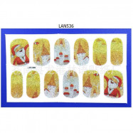 image of Woman Christmas Nail Sticker x 1pc
