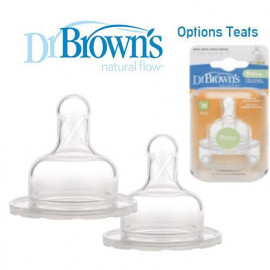 image of Dr Brown's Options Teats (Level Y) Wide / Narrow neck x 2 pcs