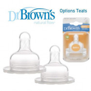 image of Dr Brown's Options Teats (Level 3) Wide/ Narrow Neck x 2 pcs