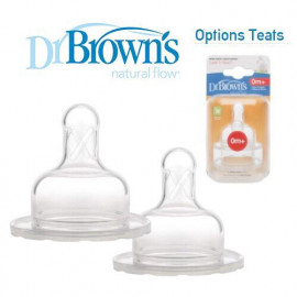 image of Dr Brown's Options Teats (Level 1) Wide/ Narrow Neck x 2 pcs