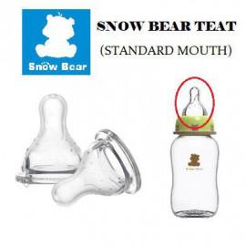 image of Snowbear milk bottle (standard mouth) teat x 2 pcs