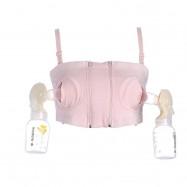 image of Hands Free Pumping Bra/ Breastfeeding Nursing Bra- Cotton