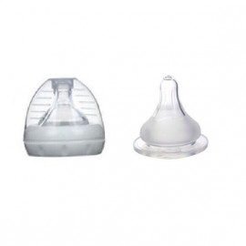 image of New born replacement breast pump nipple/ teat X 2 pc