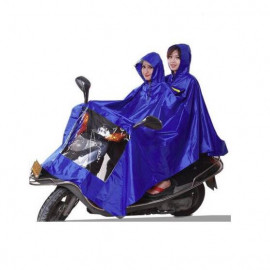 image of Motorcycle dual hooded waterproof raincoat XXXL