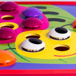 Button Art Mushroom Nail (preschool games kid toy)