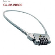 image of GERE CL32-20800 BICYCLE CABLE COMBINATION LOCK
