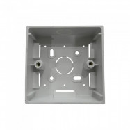 "image of PVC Electrical Nut Box 3""x3"" One Partition (WHITE)"