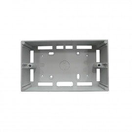 "image of PVC Electrical Nut Box 3""x6"" One Partition (WHITE)"