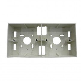 "image of PVC Electrical Nut Box 3""x7"" Two Partition (WHITE)"