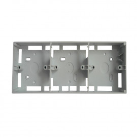 """image of PVC Electrical Nut Box 3""""x10"""" Three Partition (WHITE)"""