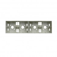"""image of PVC Electrical Nut Box 3""""x12"""" Four Partition (WHITE)"""