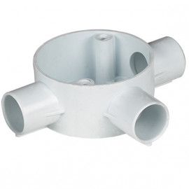 image of PVC CONDUIT FITTING 3 WAY TEE BOX
