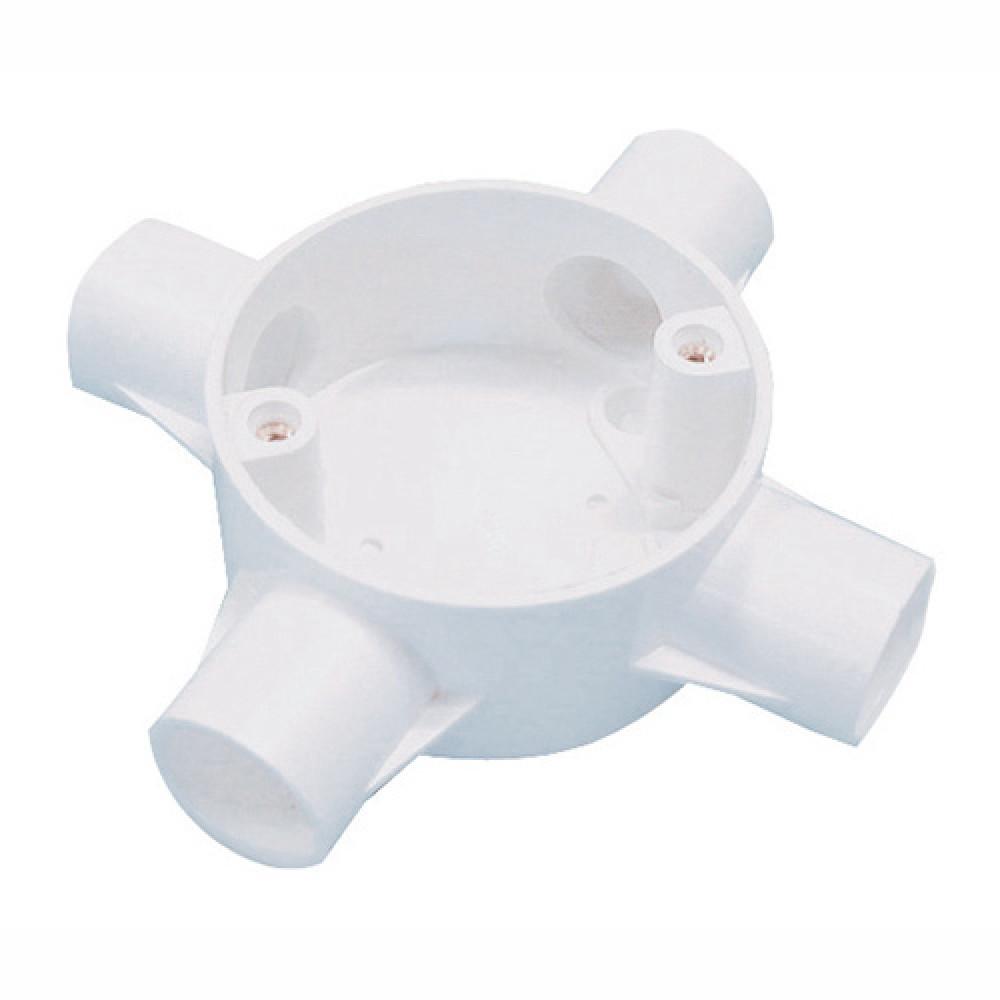 PVC CONDUIT FITTING 4 WAY CROSS BOX