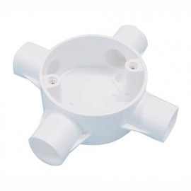 image of PVC CONDUIT FITTING 4 WAY CROSS BOX