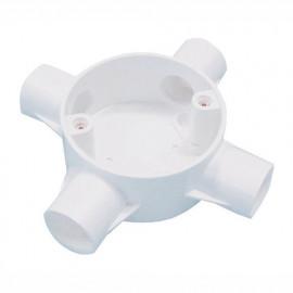 image of PVC CONDUIT FITTING 4 WAY CROSS BOX
