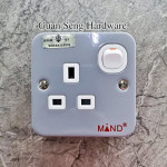 Industrial Double Metal Clad Socket 13AMP 1 WAY SWITCHED SOCKET (SIRIM Approved)