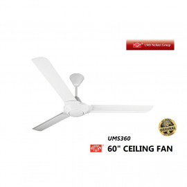 "image of UMS Ceiling Fan 60"" White UMS360 TWIN PACK (2 PCS)"