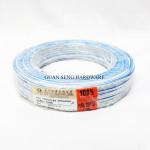 PURE COPPER 23/0.14 X 2 CORE BLUE WHITE PVC INSULATED NON-SHEATHED TWIN FLAT WIRE [70M]