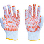 Cotton Work Gloves with Rubber Grip Dots