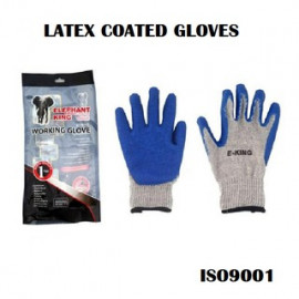 image of ELEPHANT KING PROGLASS 100 LATEX COATED GLOVES with RUBBER GRIP