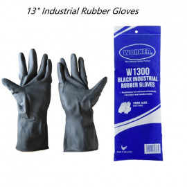 image of WORKER Black Industrial Rubber Gloves