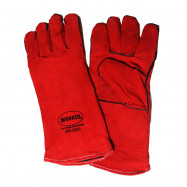 image of WORKER Red Leather Glove