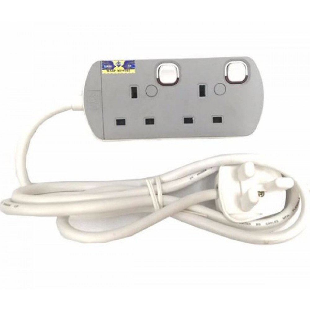 UMS Sirim Approved 2 Gang Portable Socket Trailing Extensions Socket Outlet