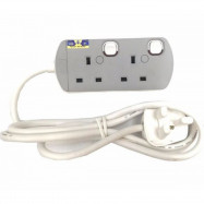 image of UMS Sirim Approved 2 Gang Portable Socket Trailing Extensions Socket Outlet