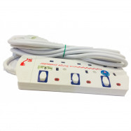 image of UK Multi Extension Socket-Neon Switch 3 GANG