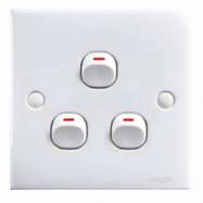 image of 2K103-1W 3 Gang 1 Way Switch