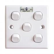 image of 2K105-1W 5 Gang 1 Way Switch