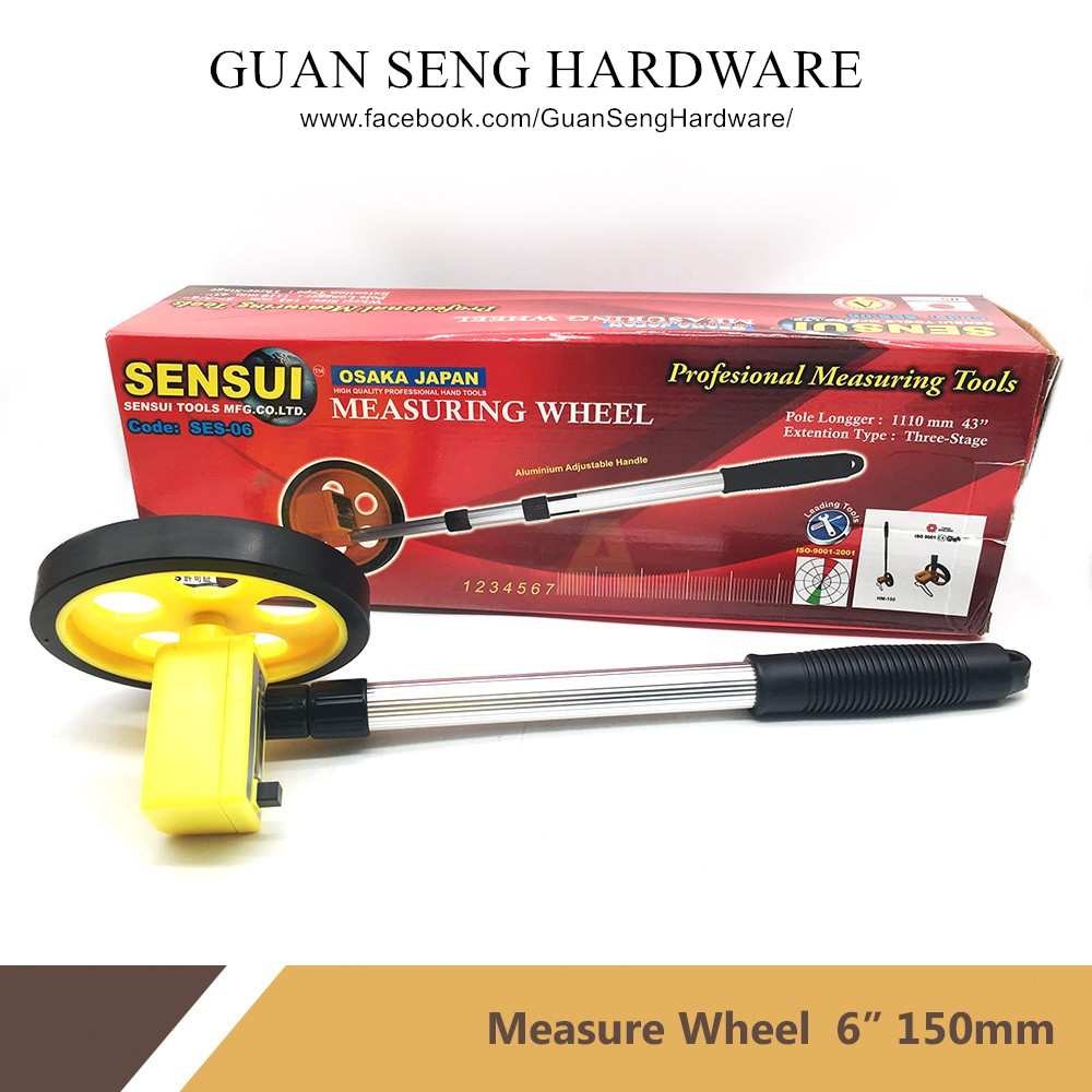 SENSUI (OSAKA JAPAN) High Quality Measuring Wheel [ AVAILABLE IN 6'' & 8'' ]