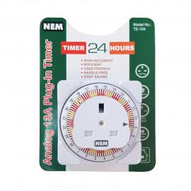 image of NEM TE-104 13A ANALOG PLUG IN TIMER