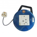 7M Round Extension Trailing Socket