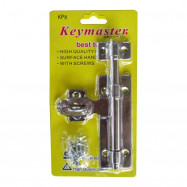 image of KEYMASTER Door Tower Bolt - [ AVAILABLE in 4'' | 6"