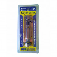 """image of KEYMASTER Door Tower Bolt (Copper Color) - AVAILABLE in 4'' 